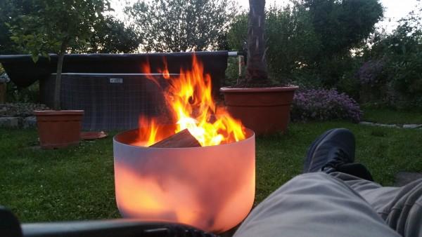 Quarzglas Feuerschale