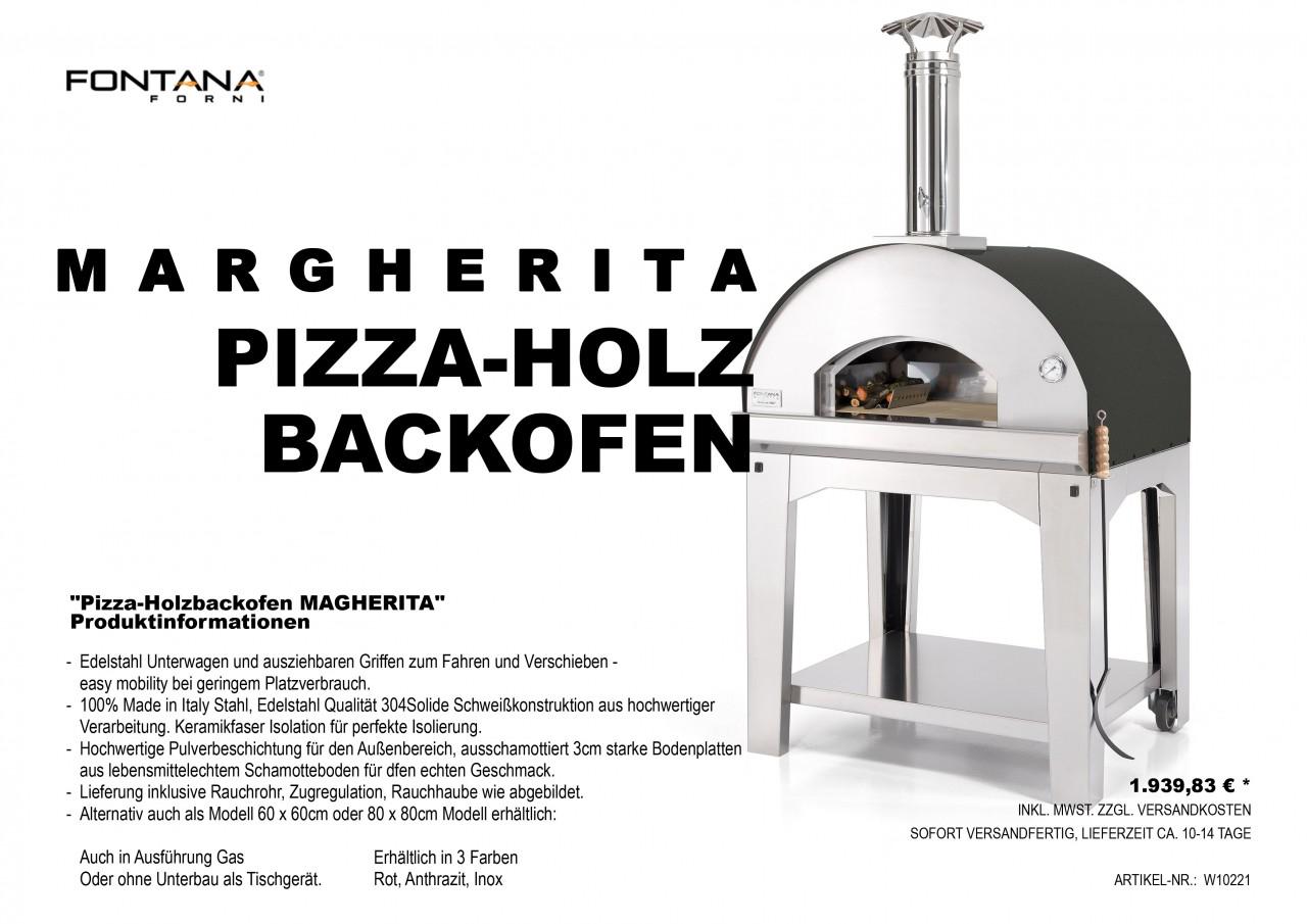 Pizza-Holzback -Margherita