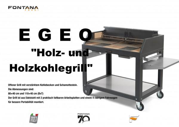 Holz- und Holzkohlegrill EGEO