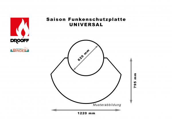 Drooff - Saison Funkenschutzplatte Universal